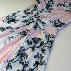TopShop Pink Floral Cap Sleeve Dress